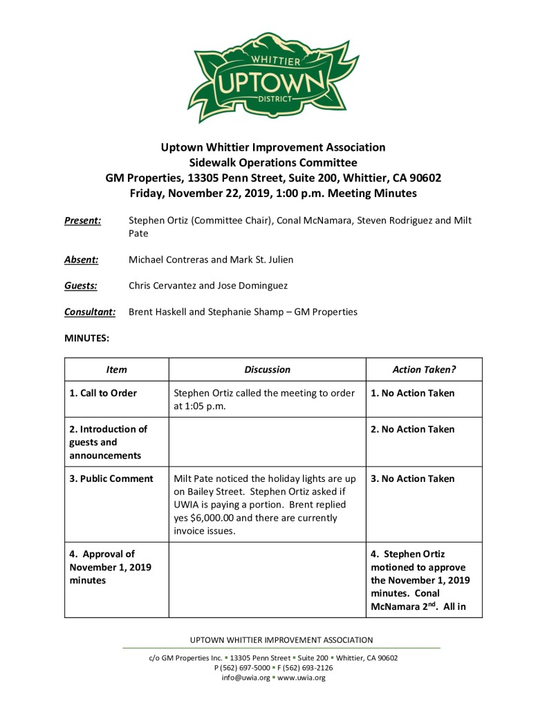thumbnail of UWIA Sidewalk Operations Committee Meeting Minutes 11-22-2019 final