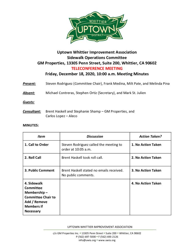 thumbnail of UWIA Sidewalk Operations Committee Meeting Minutes 12-18-2020 final
