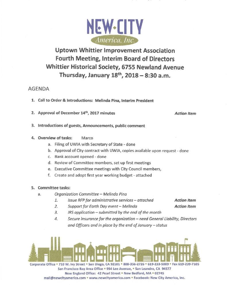 thumbnail of Board Meeting Agenda 01-18-2018