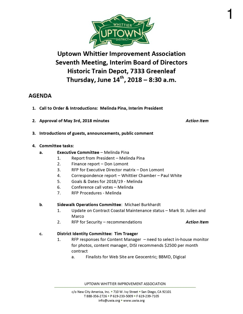 thumbnail of Board Meeting Agenda 06-14-2018