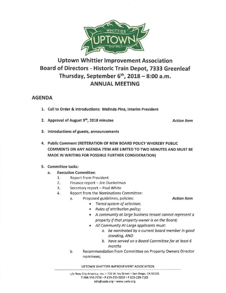 thumbnail of Board Meeting Agenda 09-06-2018
