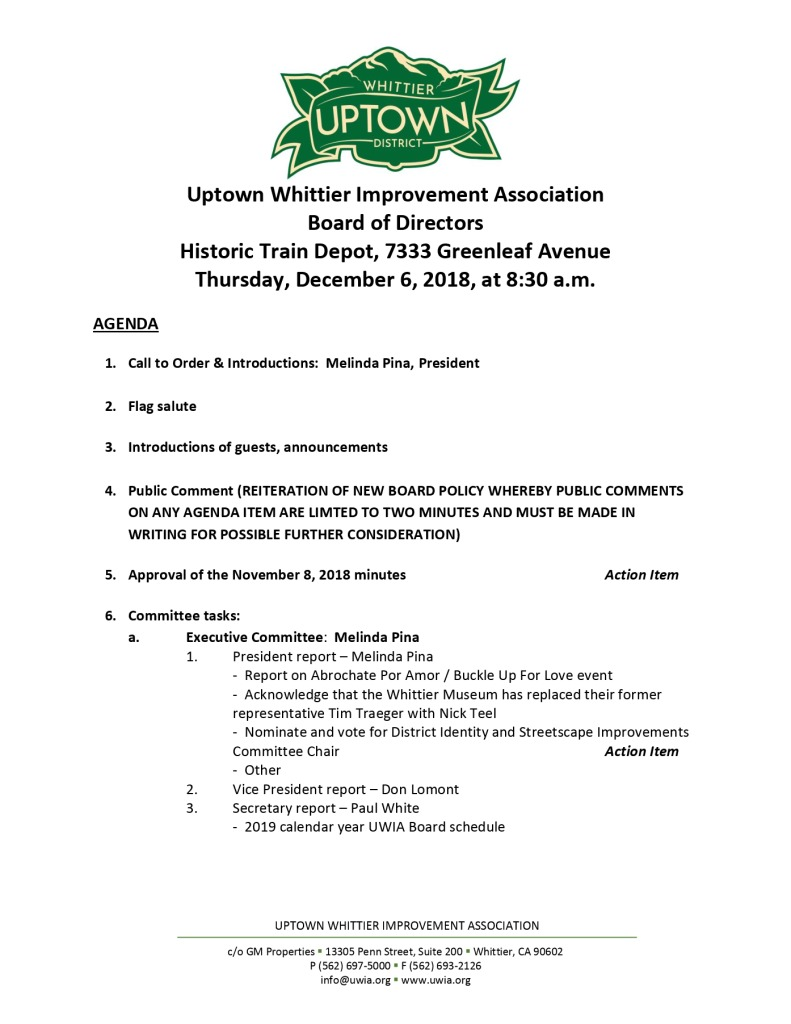 thumbnail of Board Meeting Agenda 12-06-2018