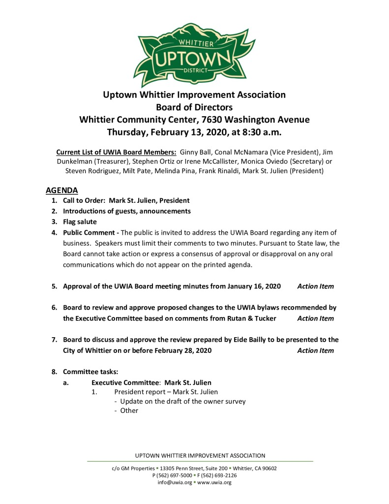 thumbnail of Board Meeting Agenda Packet 02-13-2020