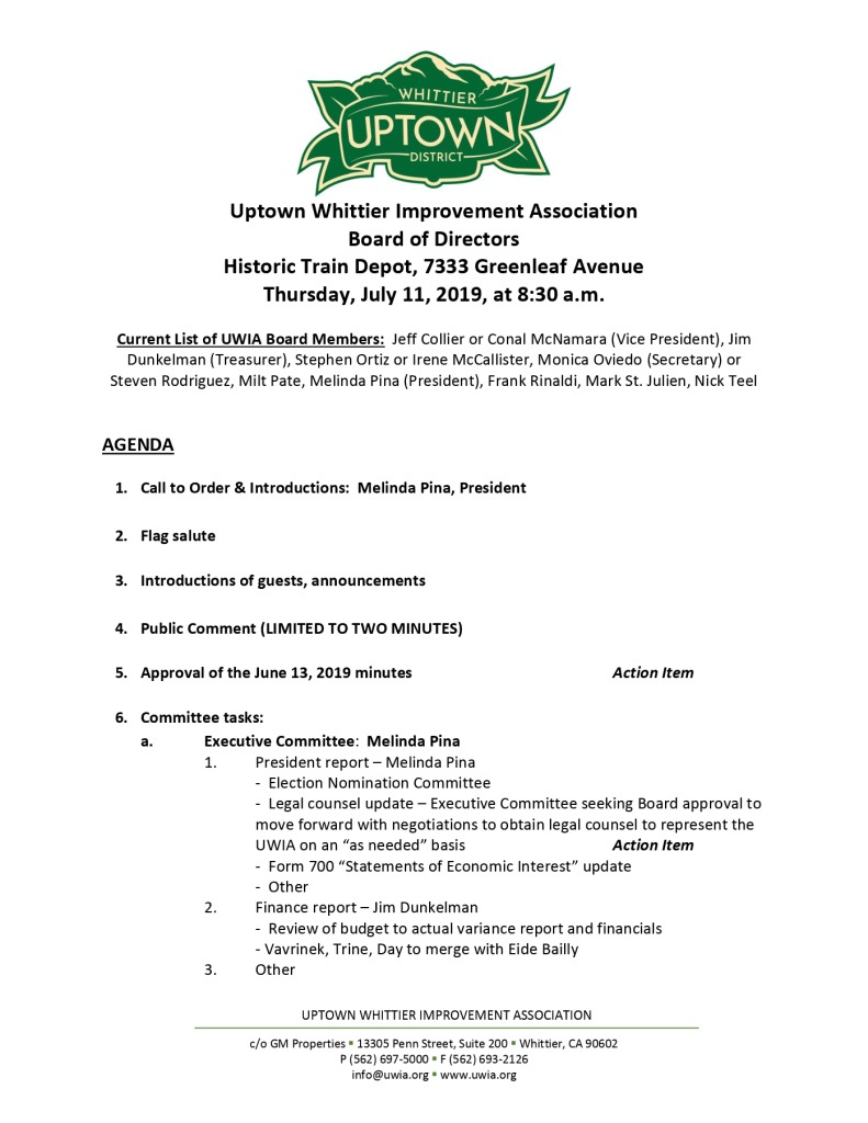 thumbnail of Board Meeting Agenda Packet 07-03-2019