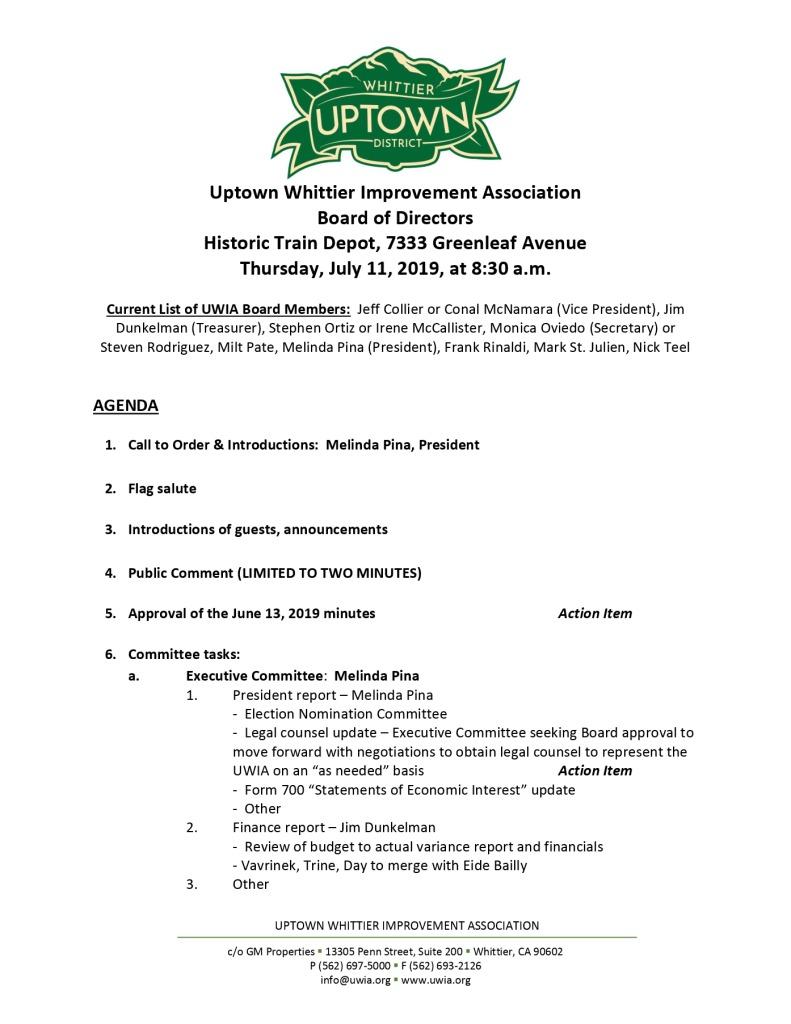 thumbnail of Board Meeting Agenda Packet 07-03-2019