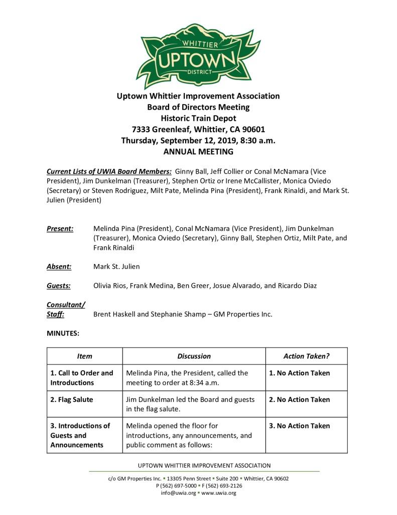 thumbnail of Board Meeting Minutes 09-12-2019 final