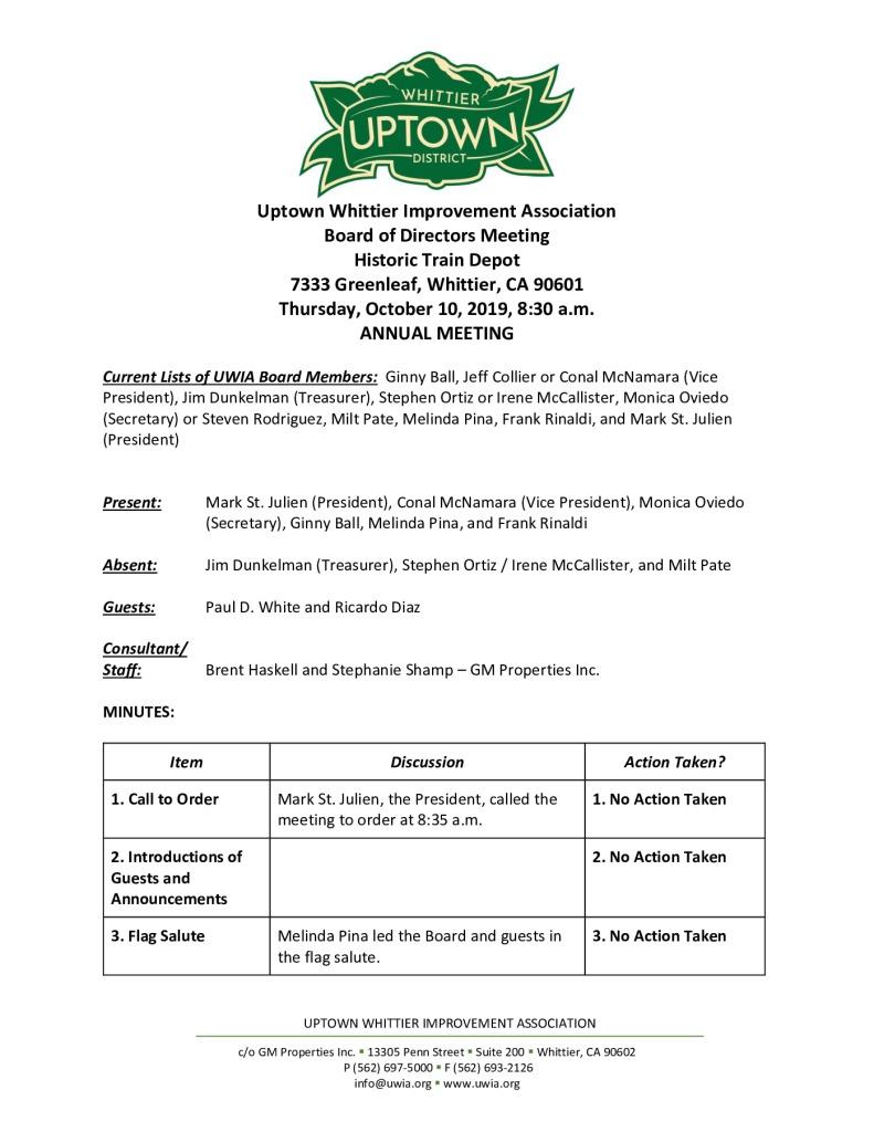 thumbnail of Board Meeting Minutes 10-10-2019 final