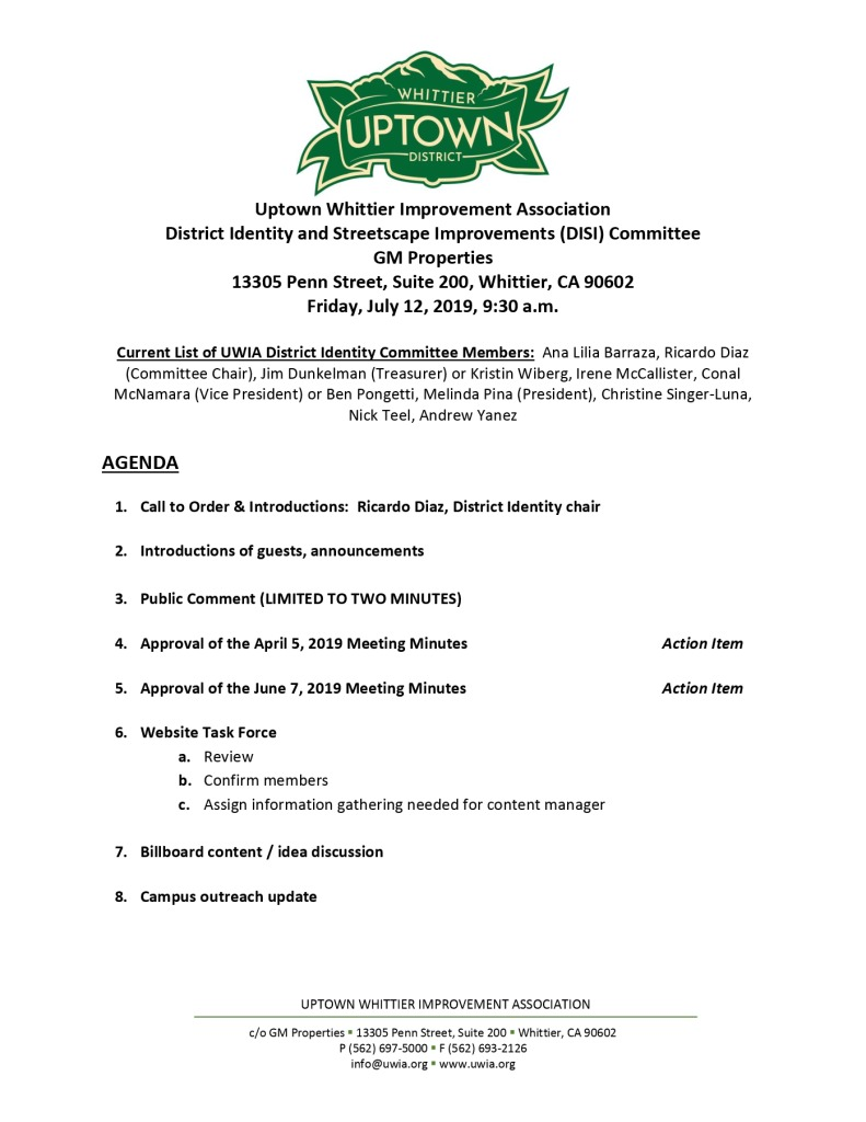 thumbnail of DISI Committee Agenda Packet 07-12-2019