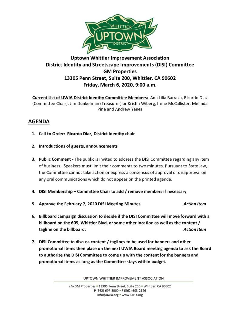 thumbnail of DISI Committee Meeting Agenda Packet 03-06-2020(1)