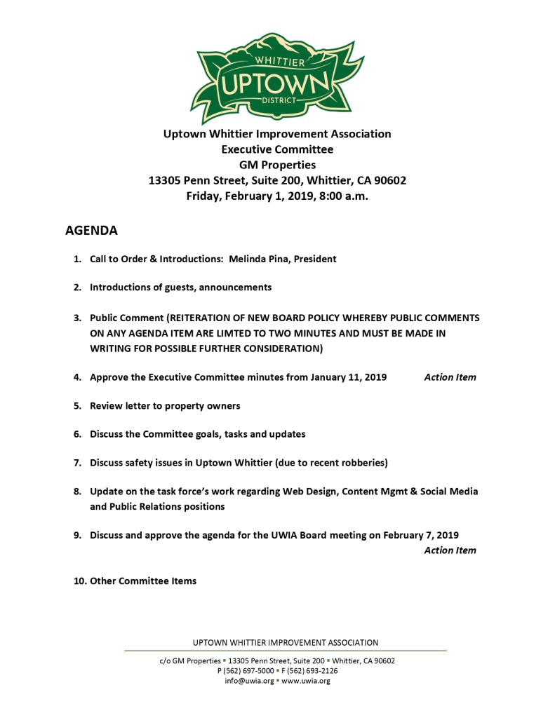 thumbnail of Executive Committee Agenda 02-01-2019