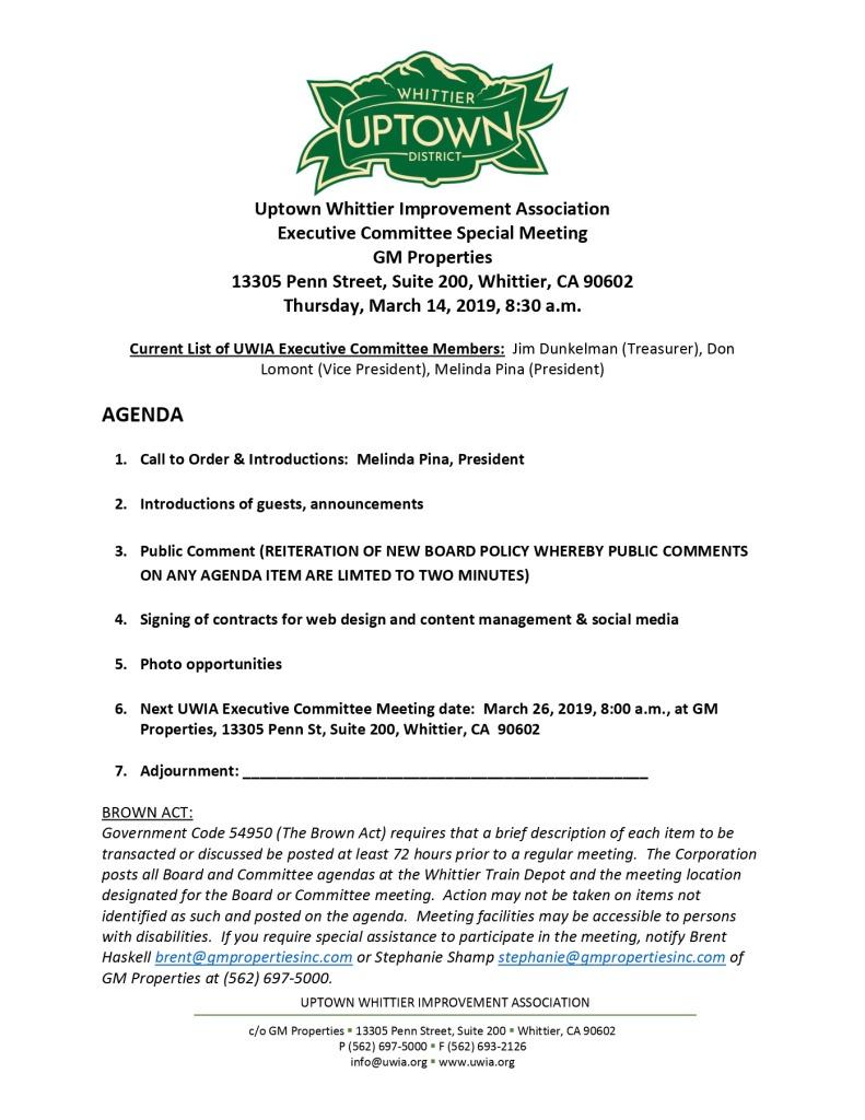 thumbnail of Executive Committee Agenda 03-14-2019