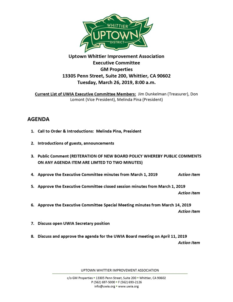 thumbnail of Executive Committee Agenda 03-26-2019