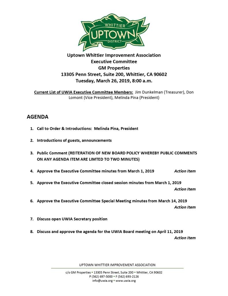 thumbnail of Executive Committee Agenda 03-26-2019