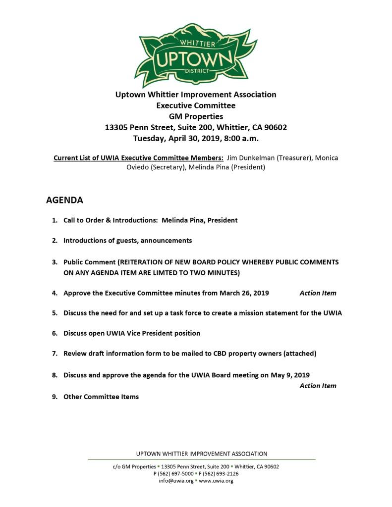 thumbnail of Executive Committee Agenda 04-30-2019