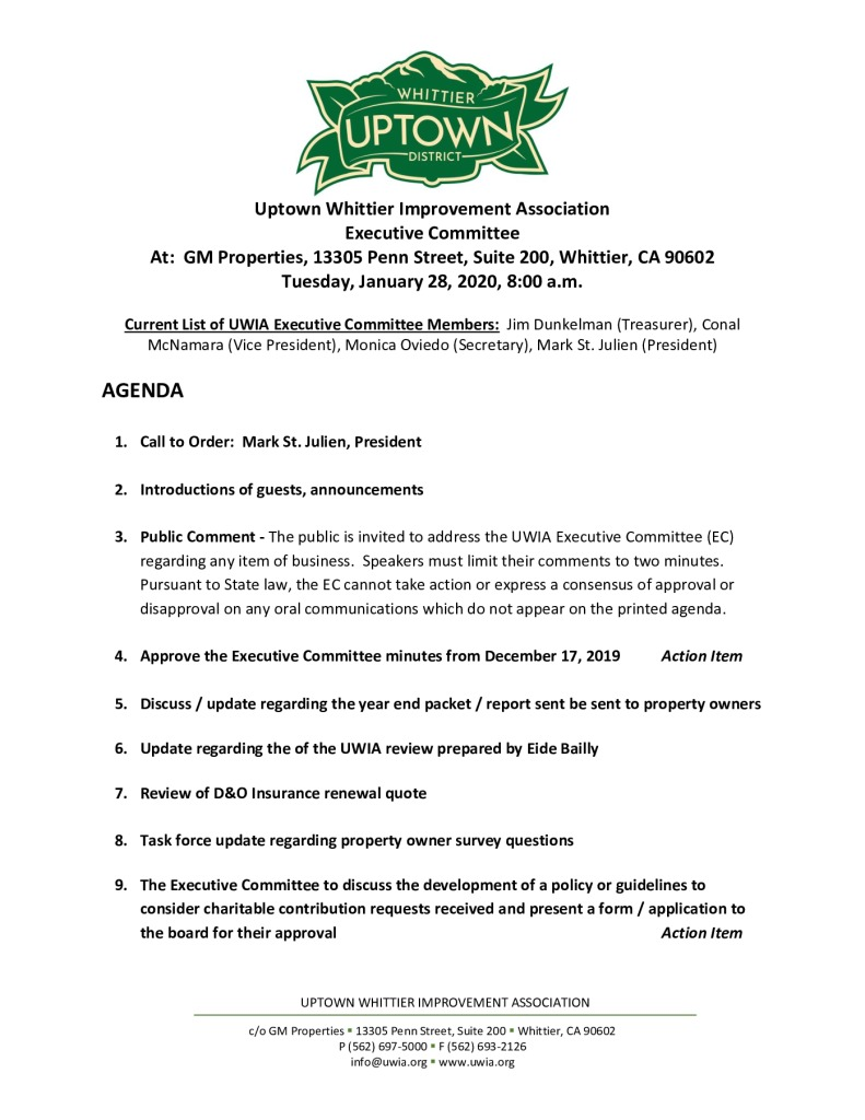 thumbnail of Executive Committee Meeting Agenda Packet 01-28-2020