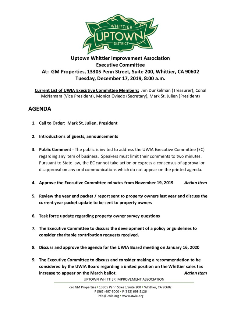 thumbnail of Executive Committee Meeting Agenda Packet 12-17-2019