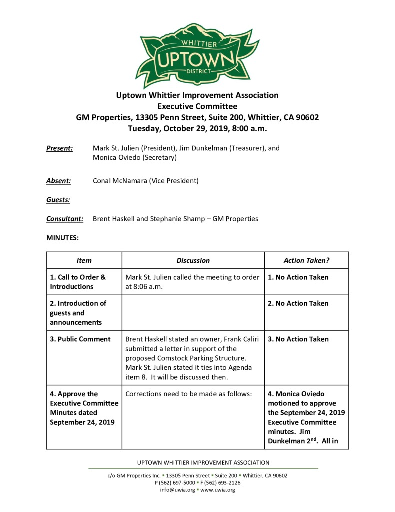 thumbnail of Executive Committee Meeting Minutes 10-29-2019 final