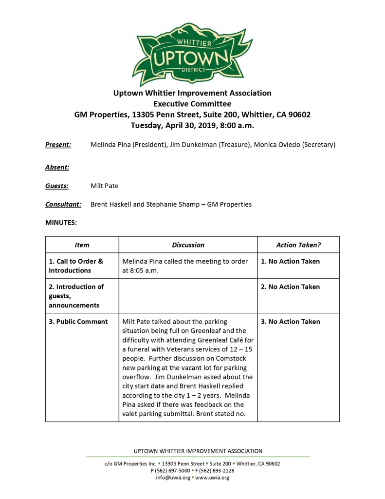 thumbnail of Executive Committee Minutes 04-30-2019