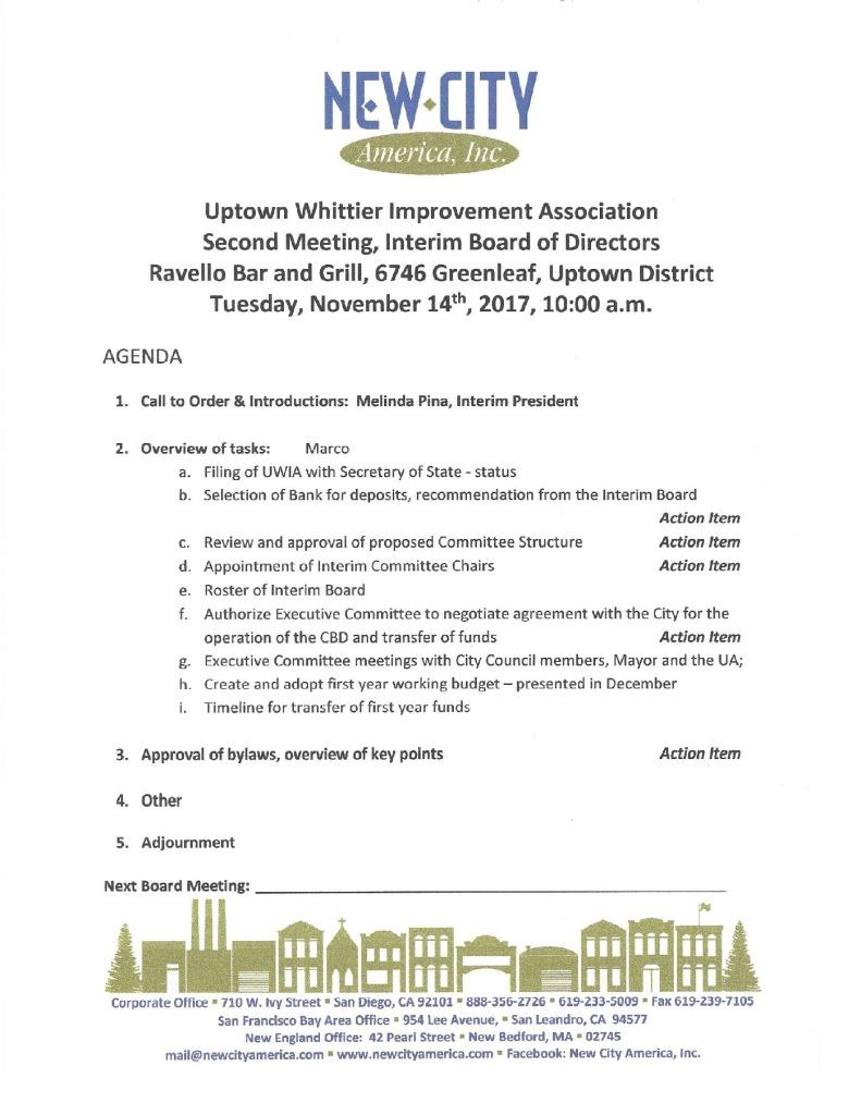 thumbnail of Interim Board Meeting Agenda 11-14-2017