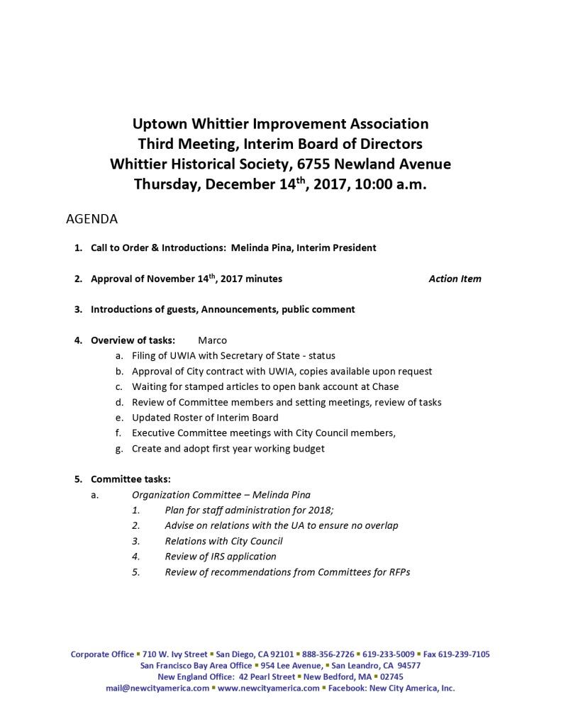thumbnail of Interim Board Meeting Agenda Packet 12-14-2017
