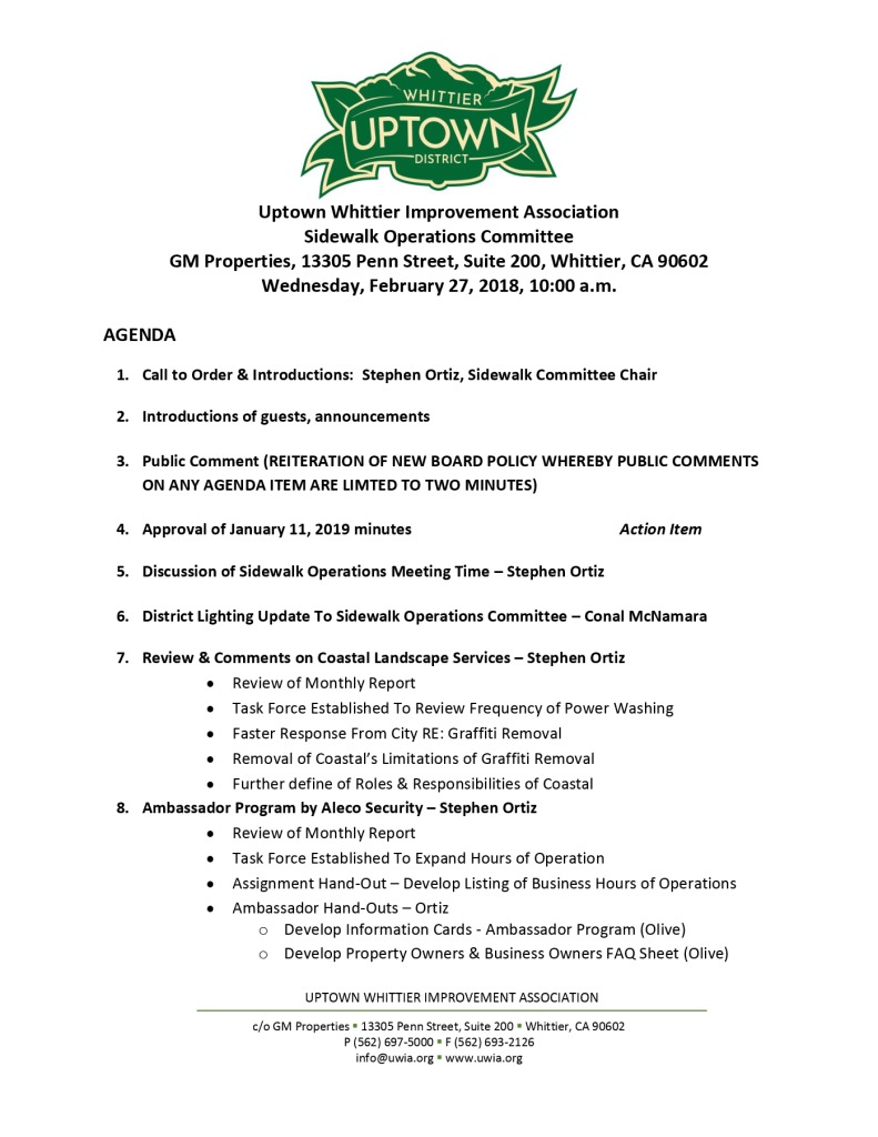 thumbnail of Sidewalk Operations Committee Meeting Agenda 02-27-2019
