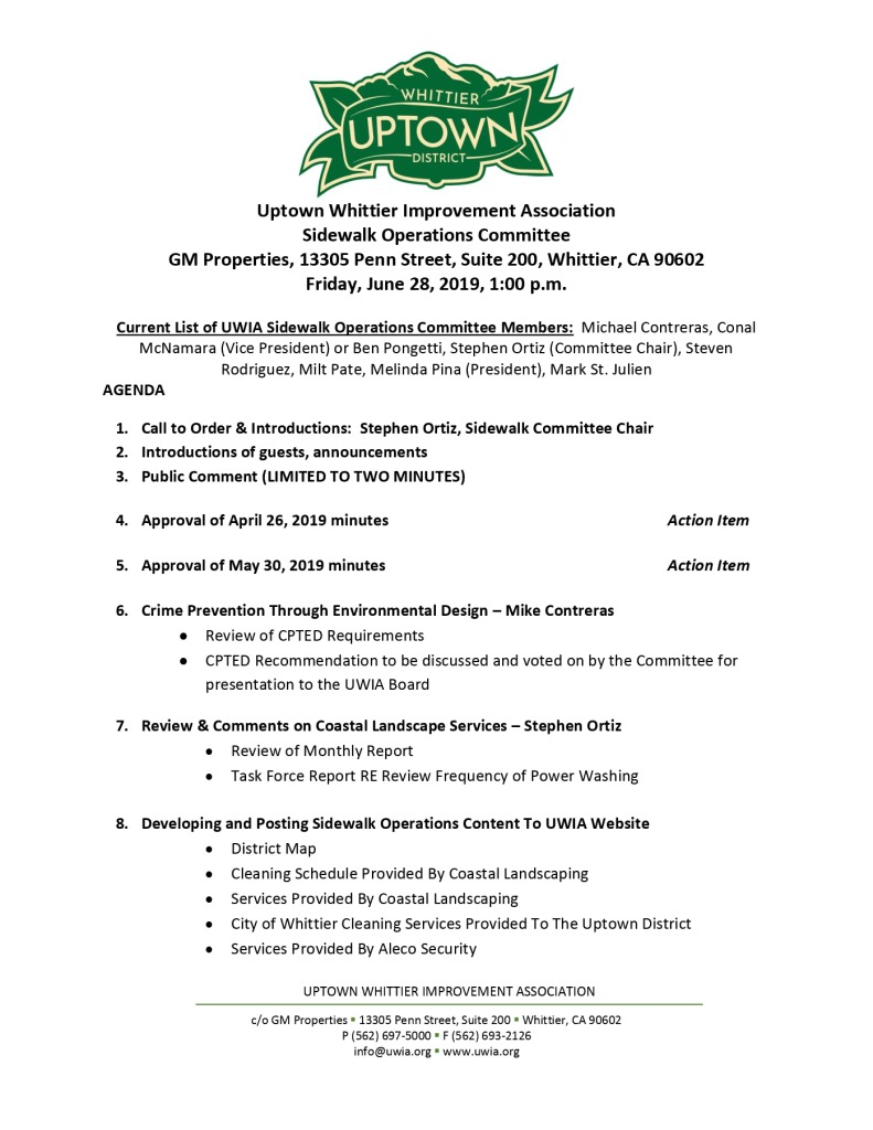 thumbnail of Sidewalk Operations Committee Meeting Agenda 06-28-2019