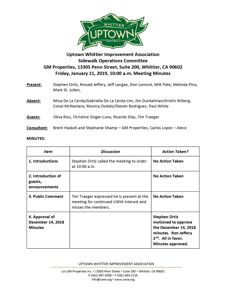 thumbnail of Sidewalk Operations Committee Minutes 01-11-2019