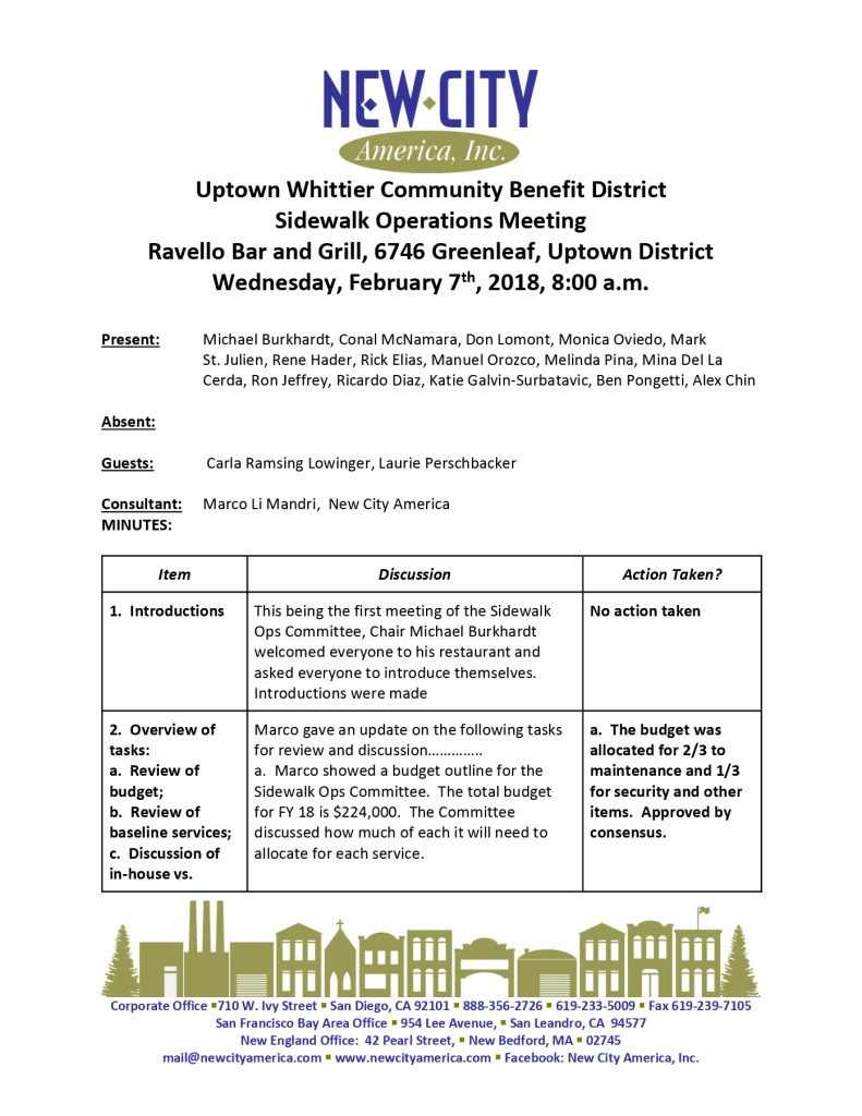 thumbnail of Sidewalk Operations Committee Minutes 02-07-2018