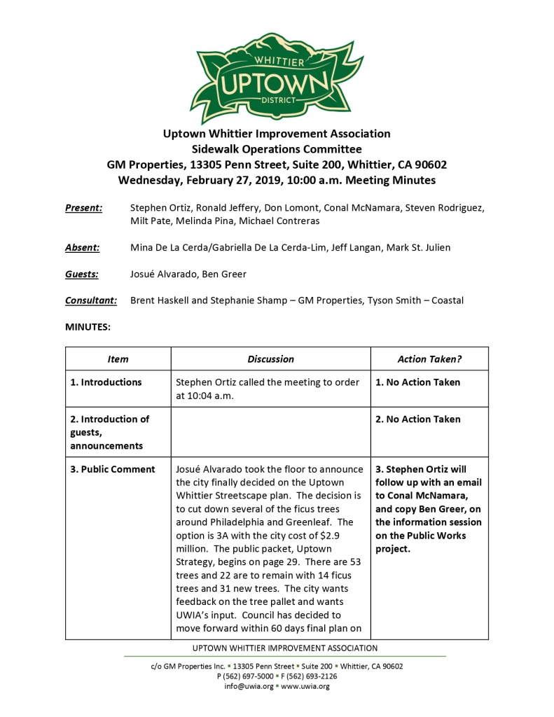 thumbnail of Sidewalk Operations Committee Minutes 02-27-2019