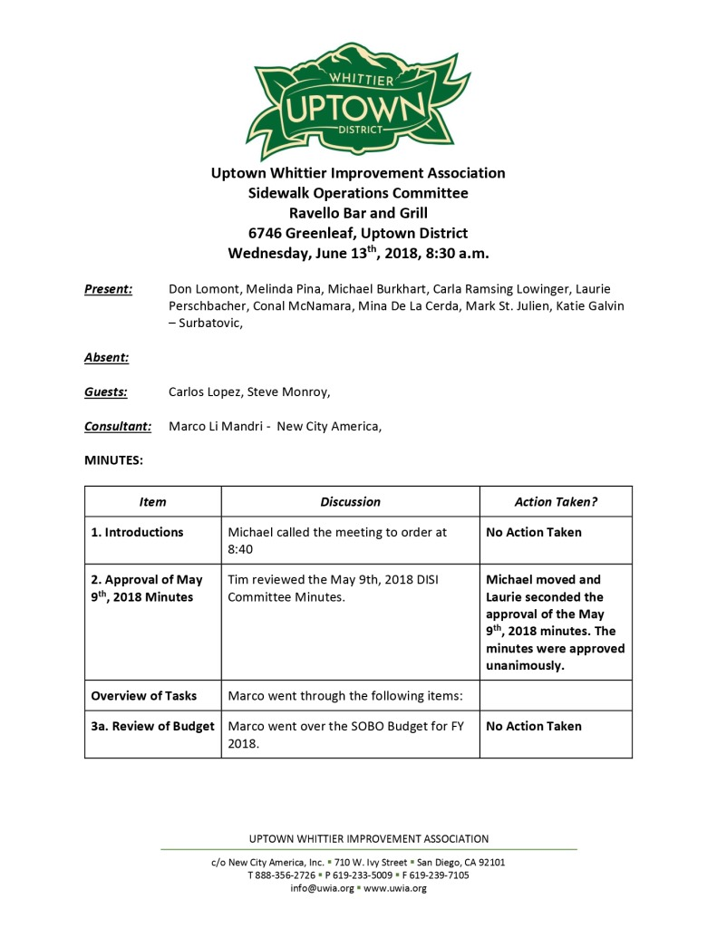 thumbnail of Sidewalk Operations Committee Minutes 06-13-2018