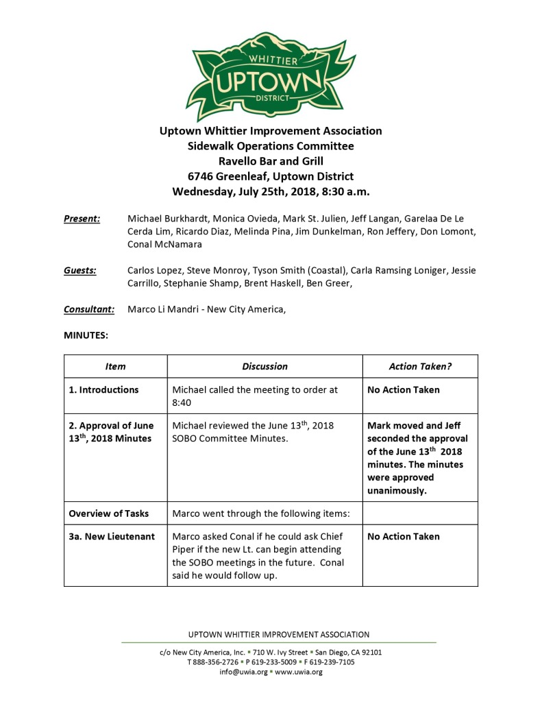 thumbnail of Sidewalk Operations Committee Minutes 07-25-2018