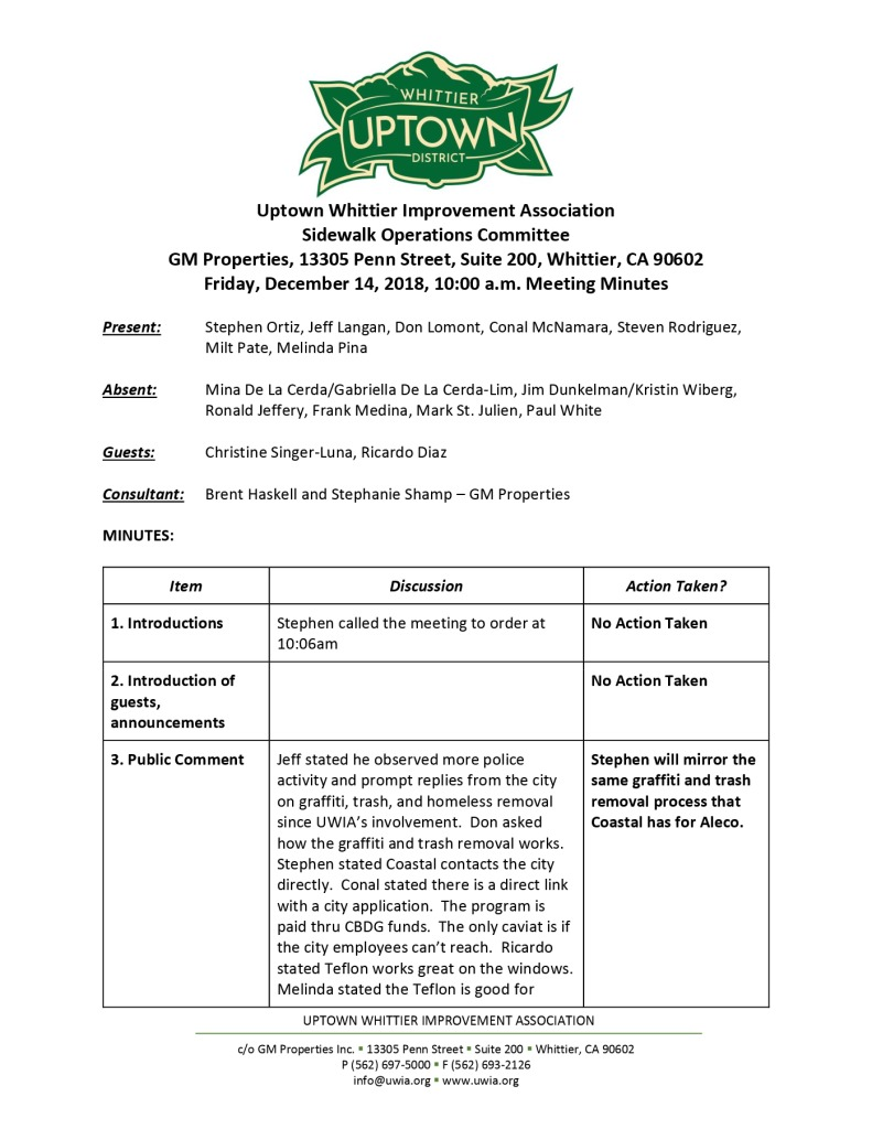 thumbnail of Sidewalk Operations Committee Minutes 12-14-2018