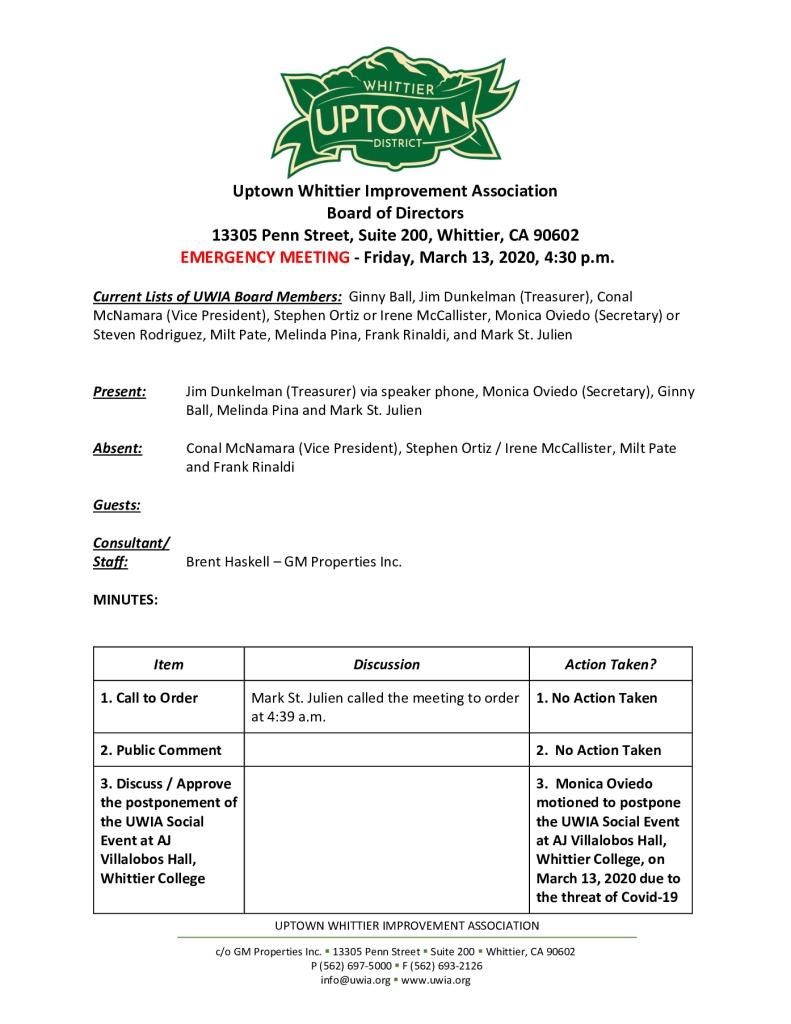 thumbnail of UWIA Board Emergency Meeting Minutes 03-13-2020 final