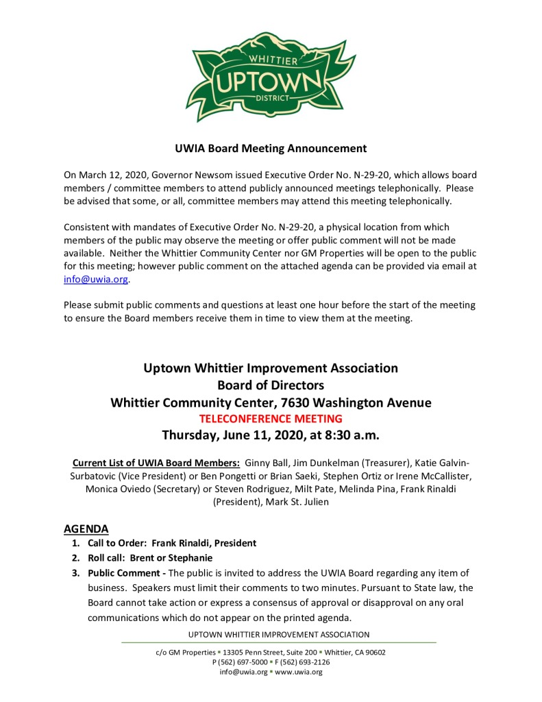 thumbnail of UWIA Board Meeting Agenda Packet 06-11-2020
