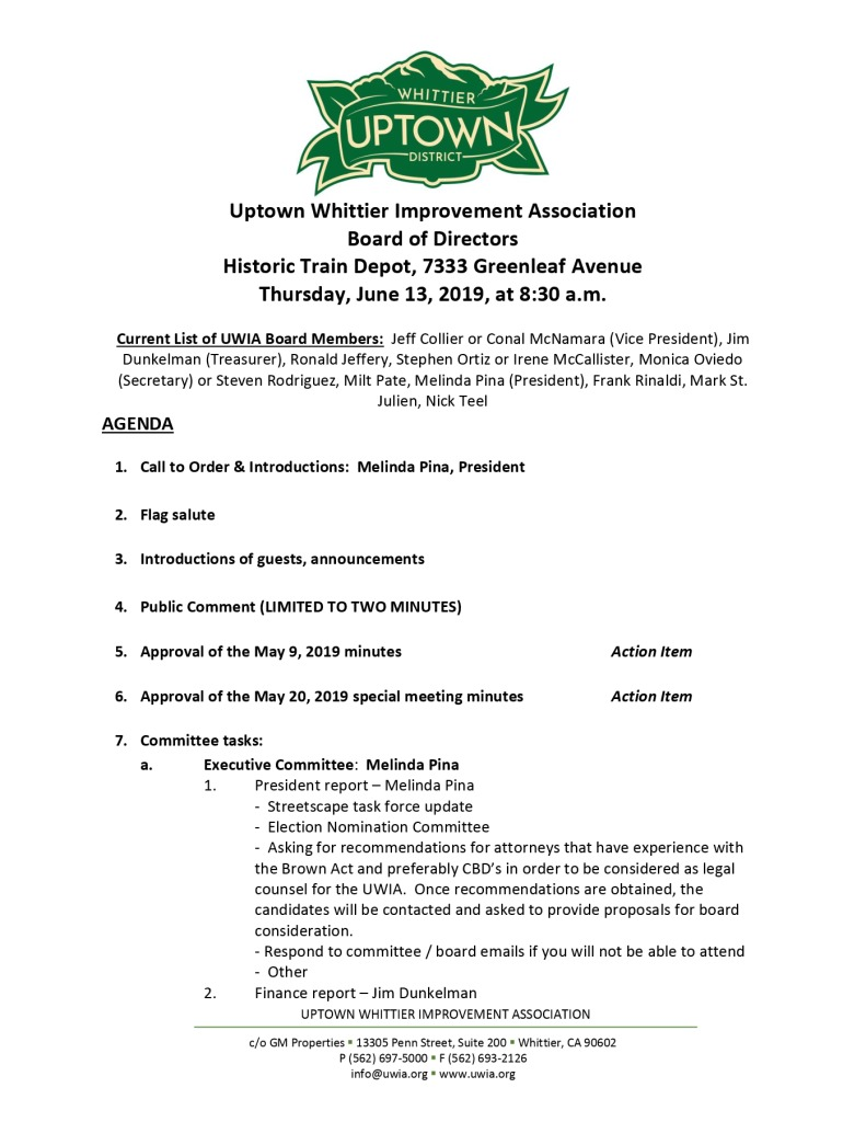 thumbnail of UWIA Board Meeting Agenda Packet 06-13-2019