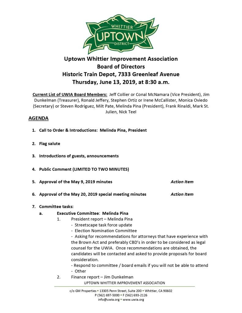 thumbnail of UWIA Board Meeting Agenda Packet 06-13-2019