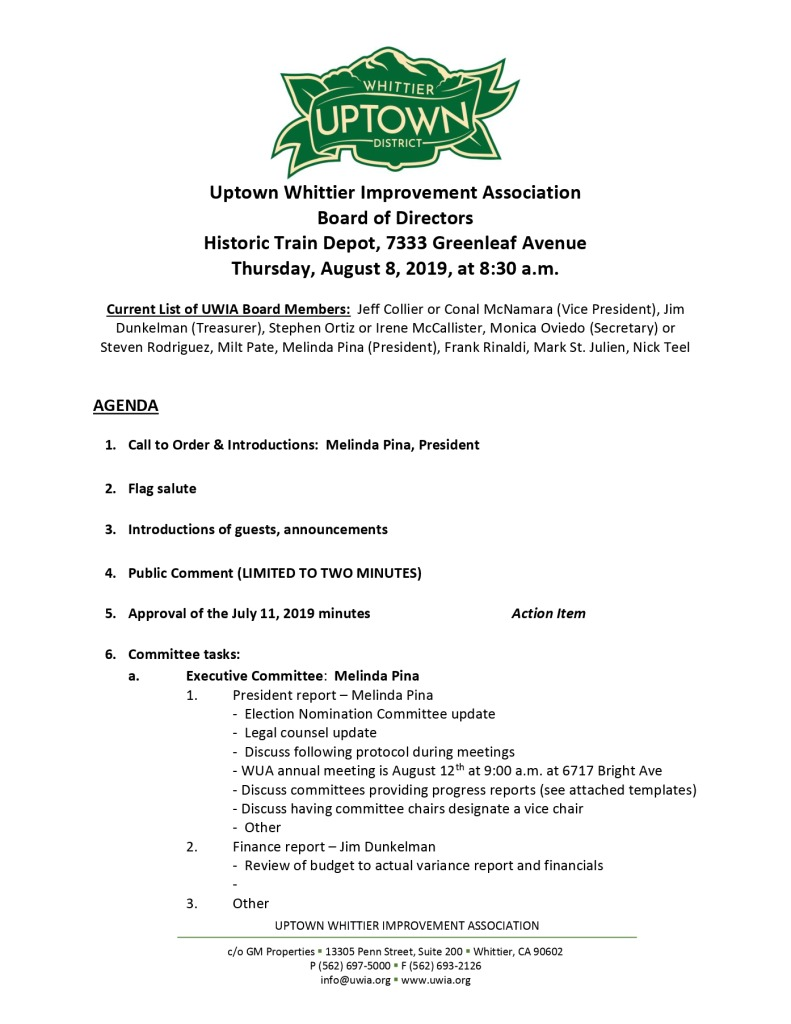 thumbnail of UWIA Board Meeting Agenda Packet 08-08-2019