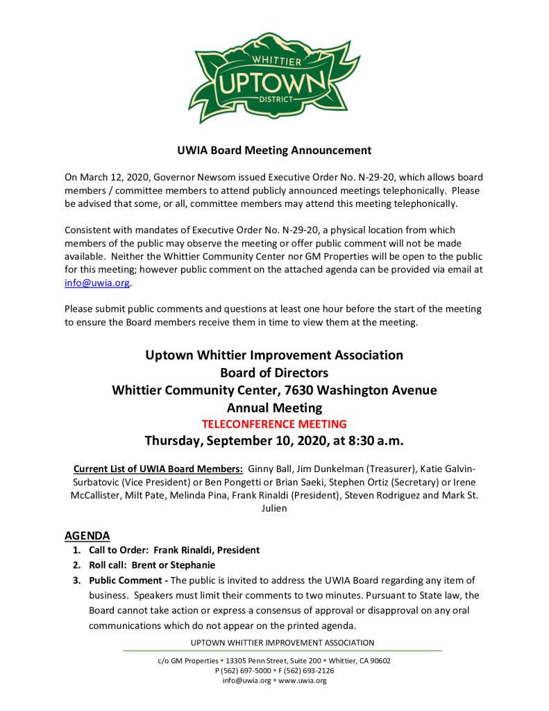 thumbnail of UWIA Board Meeting Agenda Packet 09-10-2020