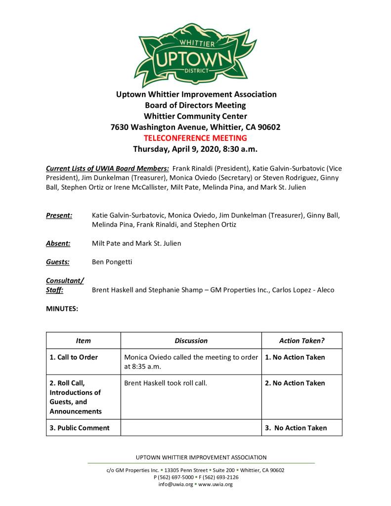 thumbnail of UWIA Board Meeting Minutes 04-09-2020 final