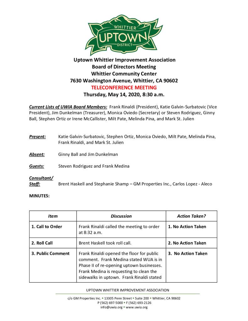 thumbnail of UWIA Board Meeting Minutes 05-14-2020 final
