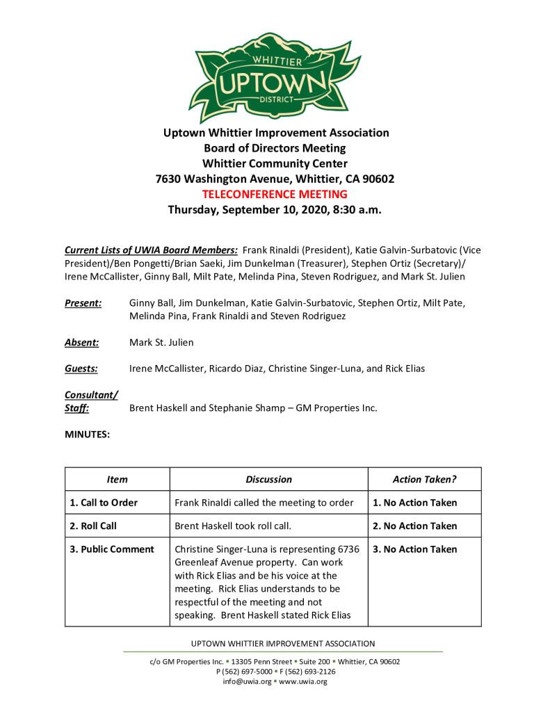 thumbnail of UWIA Board Meeting Minutes 09-10-2020 final