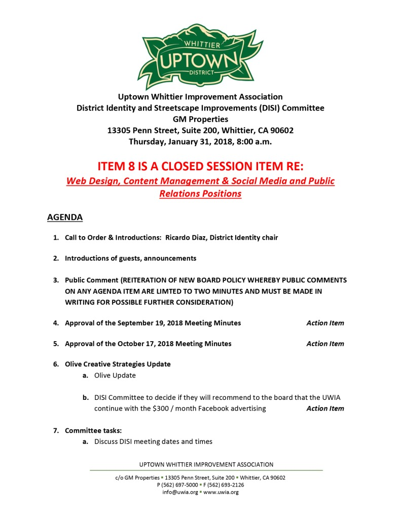 thumbnail of UWIA DISI Committee Agenda 01-31-2019