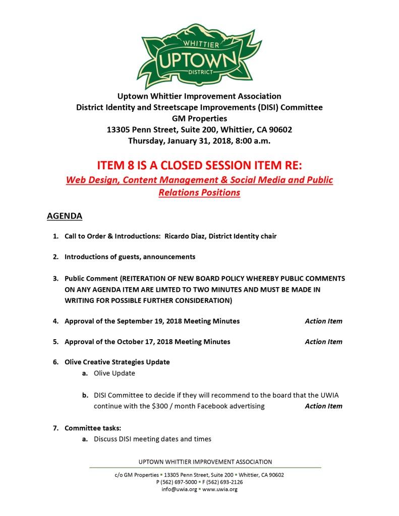 thumbnail of UWIA DISI Committee Agenda 01-31-2019