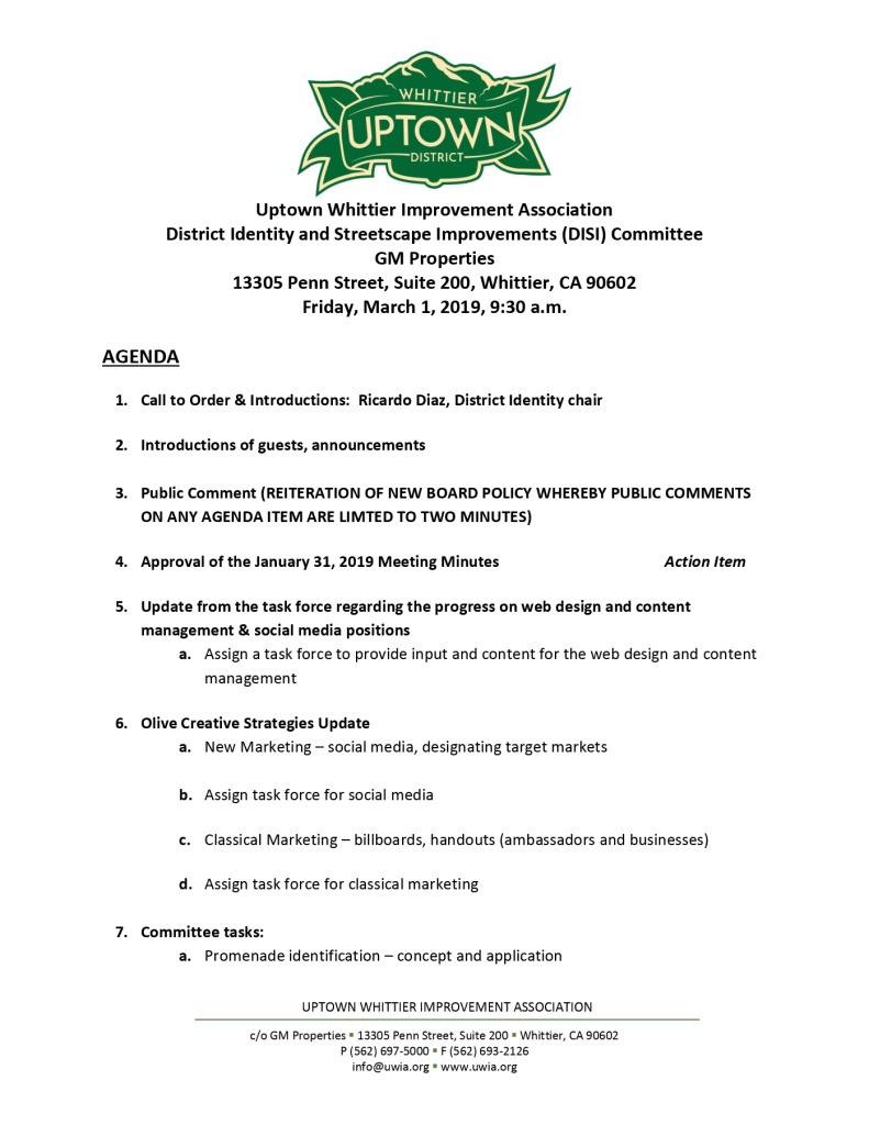 thumbnail of UWIA DISI Committee Agenda 03-01-2019