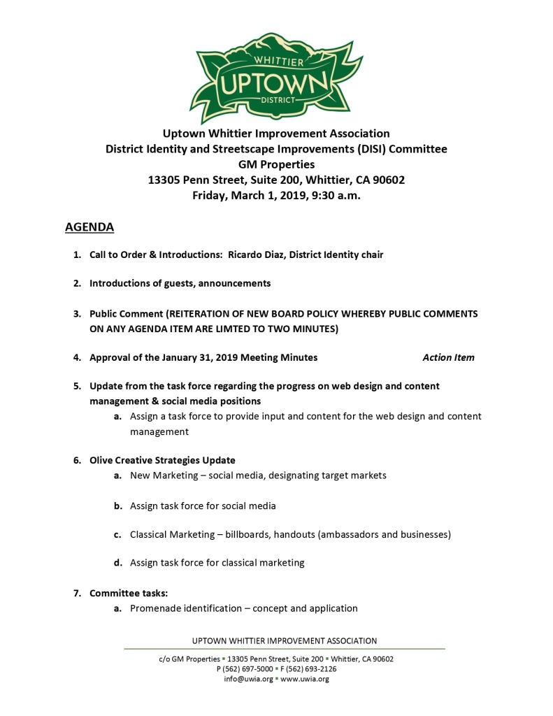 thumbnail of UWIA DISI Committee Agenda 03-01-2019