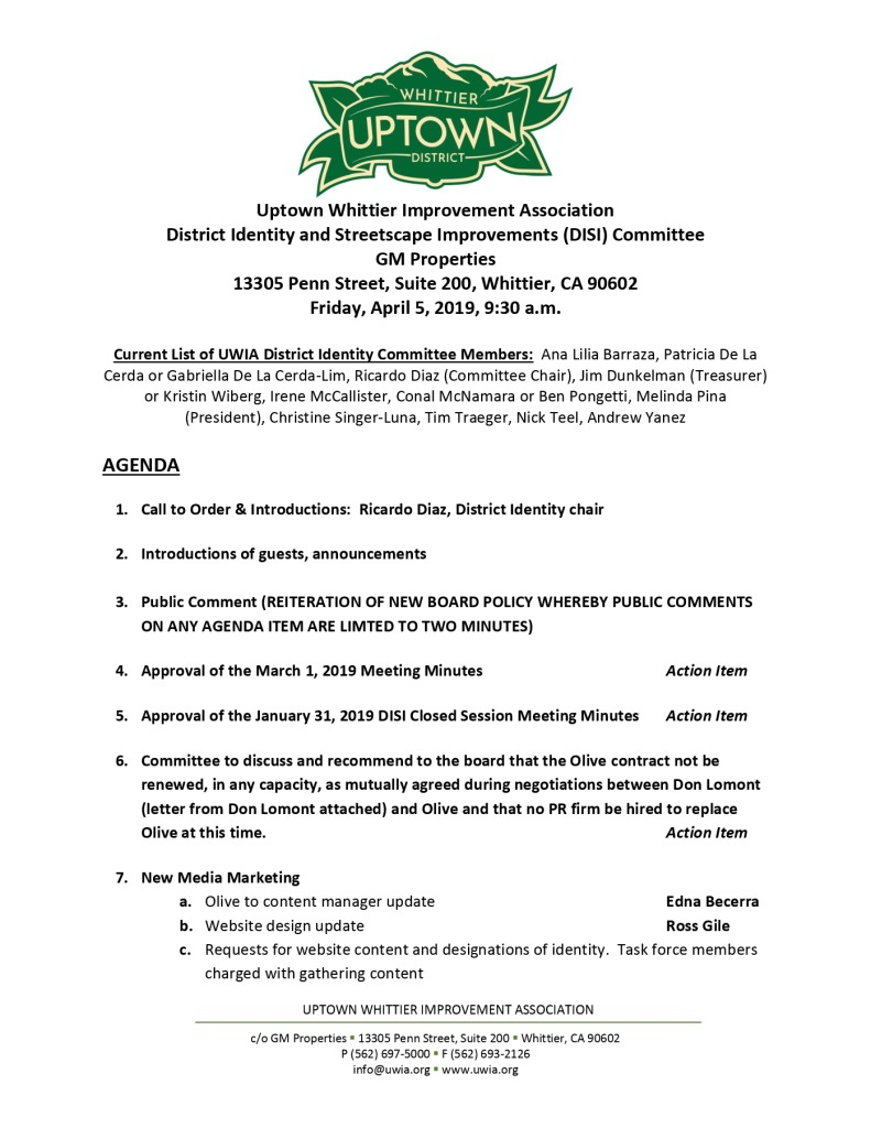 thumbnail of UWIA DISI Committee Agenda 04-05-2019