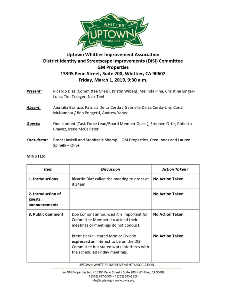 thumbnail of UWIA DISI Committee Meeting Minutes 03-01-2019