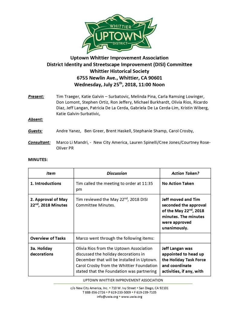 thumbnail of UWIA DISI Committee Minutes 07-25-2018