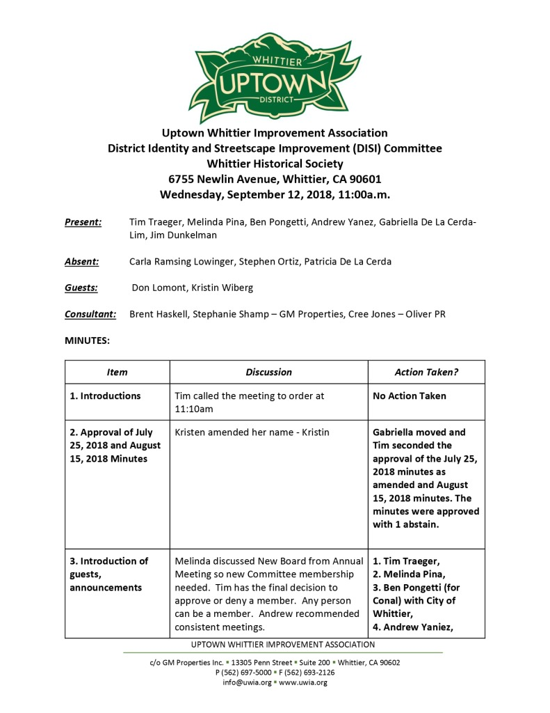 thumbnail of UWIA DISI Committee Minutes 09-12-2018