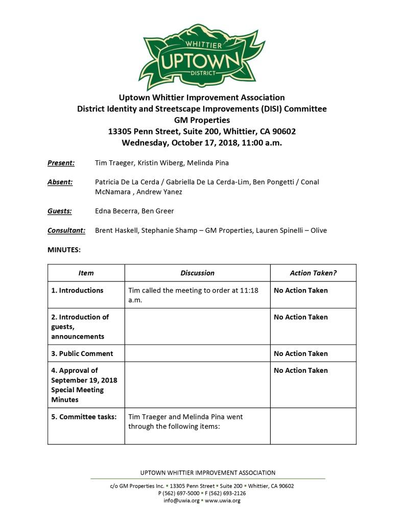 thumbnail of UWIA DISI Committee Minutes 10-17-2018
